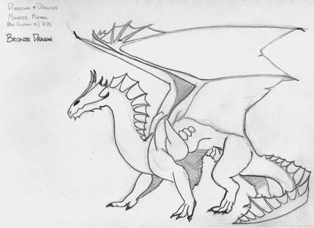Bronze Dragon, from Dungeons & Dragons 'Monster Manual' (v3.5)