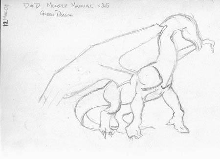 Green Dragon, from Dungeons & Dragons 'Monster Manual' (v3.5)